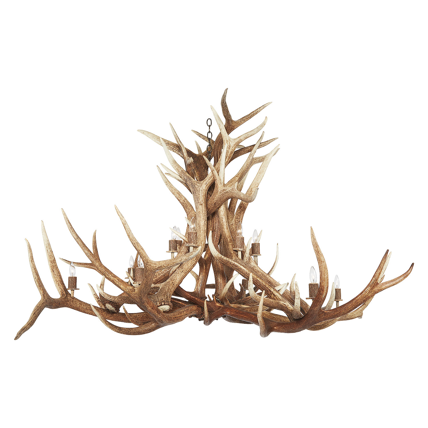 Antler Chandelier With Crystals